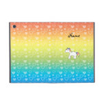 Personalized name baby unicorn rainbow hearts cases for iPad mini
