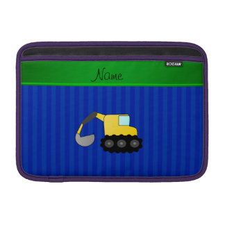 Personalized name backhoe blue stripes sleeve for MacBook air
