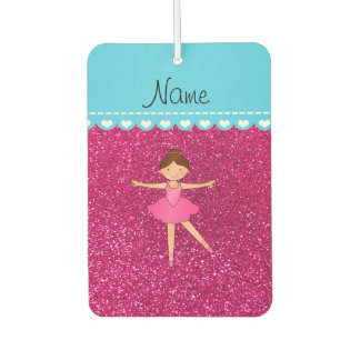 Personalized name ballerina neon hot pink glitter