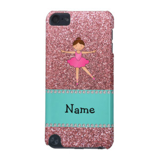 Personalized name ballerina pastel pink glitter iPod touch (5th generation) cover
