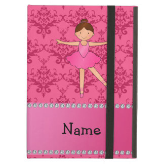 Personalized name ballerina pink damask cover for iPad air