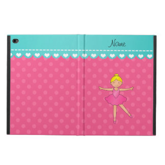 Personalized name ballerina pink polka dots powis iPad air 2 case