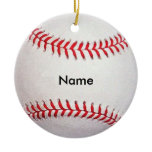 Personalized Name Baseball Christmas Ornament