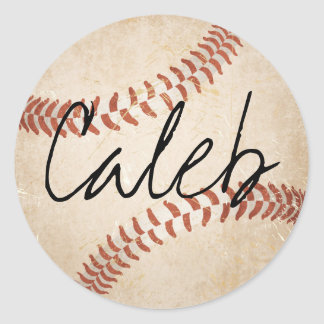 Personalized Name Baseball Stickers
