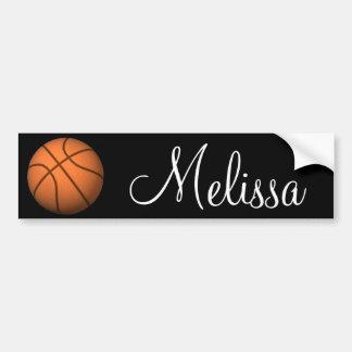 Personalized Name Basketball Bumper Sticker