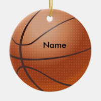 Personalized Name Basketball Christmas Ornament