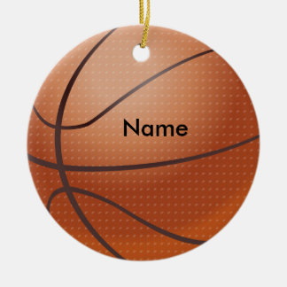 Personalized Name Basketball Christmas Ornament