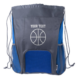 Personalized name basketball drawstring backpack