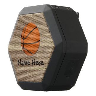 Personalized Name Basketball Orange/Brown Black Bluetooth Speaker