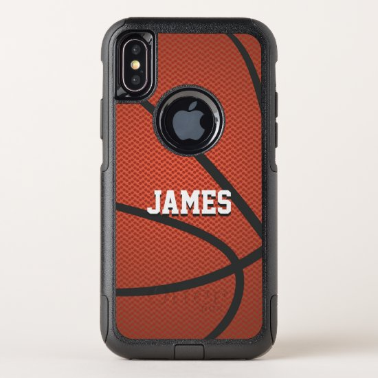 Personalized Name Basketball OtterBox Commuter iPhone X Case