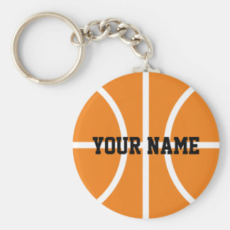 Personalized name basketball player keychains