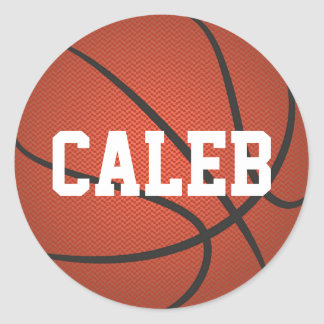 Personalized Name Basketball Stickers