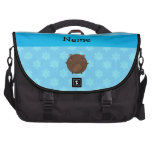 Personalized name bear blue snowflakes bag for laptop