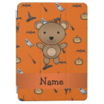 Personalized name bear halloween pattern iPad air cover