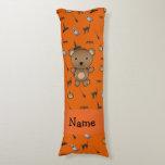 Personalized name bear halloween pattern body pillow