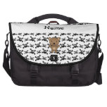 Personalized name bear skulls pattern commuter bags