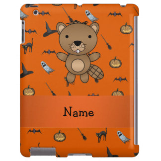 Personalized name beaver halloween pattern