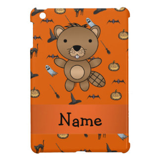 Personalized name beaver halloween pattern case for the iPad mini
