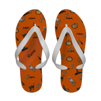 Personalized name beaver halloween pattern sandals