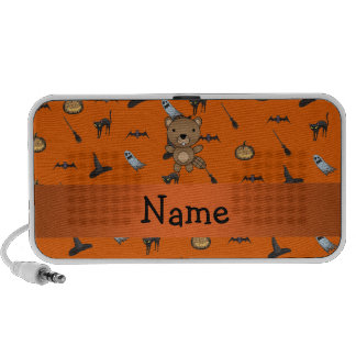 Personalized name beaver halloween pattern iPod speakers