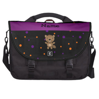 Personalized name beaver halloween polka dots commuter bags