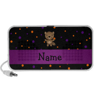 Personalized name beaver halloween polka dots PC speakers