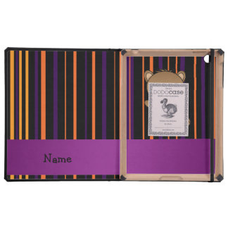 Personalized name beaver halloween stripes case for iPad