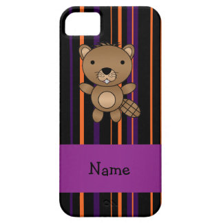 Personalized name beaver halloween stripes iPhone 5 covers