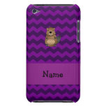 Personalized name beaver purple chevrons iPod Case-Mate cases