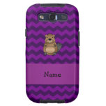 Personalized name beaver purple chevrons galaxy s3 covers
