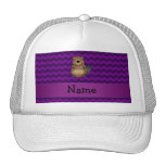 Personalized name beaver purple chevrons trucker hat