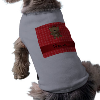 Personalized name beaver red christmas trees pet shirt