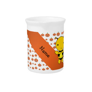 Personalized name bee pumpkins pattern pitchers