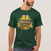 Personalized Name Beer Irish Pub St Patrick's Day T-Shirt