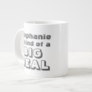 Personalized Name Big Deal Funny Coffee Jumbo Mug
