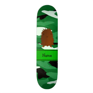 Personalized name bigfoot green camouflage skate boards