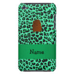 Personalized name bigfoot green leopard pattern iPod touch cover