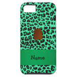 Personalized name bigfoot green leopard pattern iPhone 5 cover