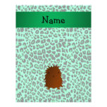 Personalized name bigfoot green leopard pattern full color flyer