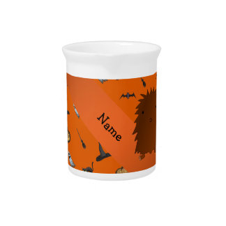 Personalized name bigfoot halloween pattern beverage pitchers