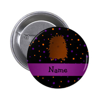 Personalized name bigfoot halloween polka dots 2 inch round button