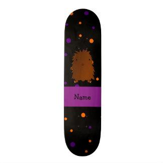 Personalized name bigfoot halloween polka dots skate boards