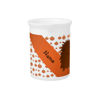 Personalized name bigfoot pumpkins pattern drink pitchers