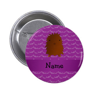 Personalized name bigfoot purple bats 2 inch round button