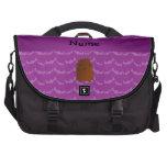 Personalized name bigfoot purple bats bag for laptop