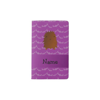 Personalized name bigfoot purple bats pocket moleskine notebook cover with notebook