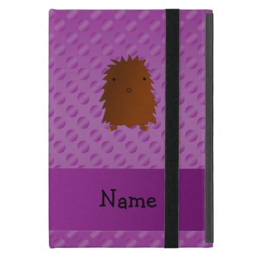 Personalized name bigfoot purple polka dots cover for iPad mini