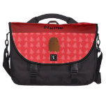 Personalized name bigfoot red christmas trees laptop commuter bag