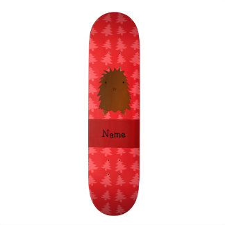 Personalized name bigfoot red christmas trees skate board deck