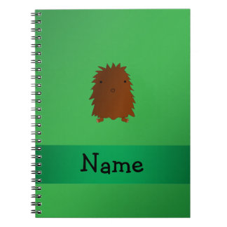 Personalized name bigfoot - sasquatch green spiral notebooks